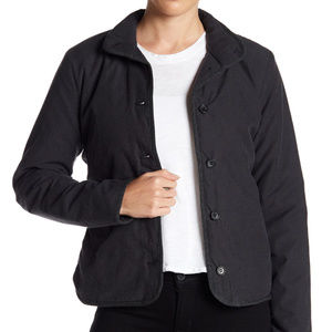 James Perse Black Abyss Funnel Neck Jacket